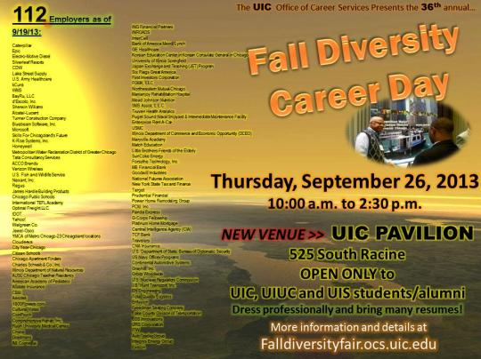 Sept 26 - Fall Diversity Career Day